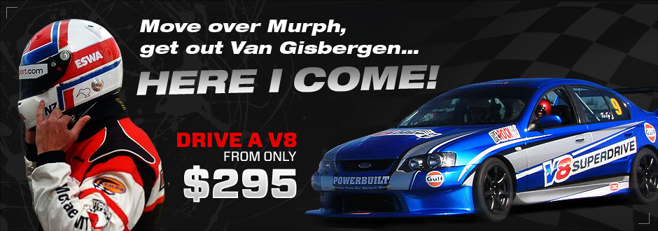 V8 Hot Laps from $185